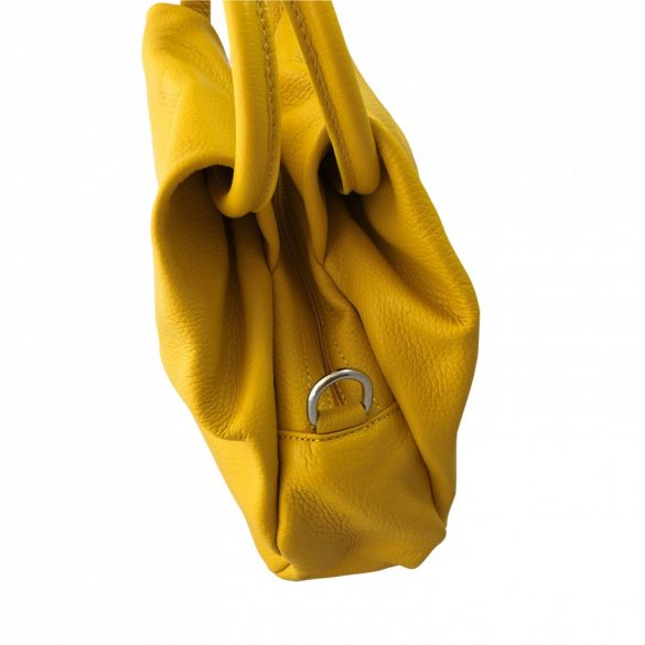 """""""Mila"""" kicsi sárga Olasz bőr női divattáska"""