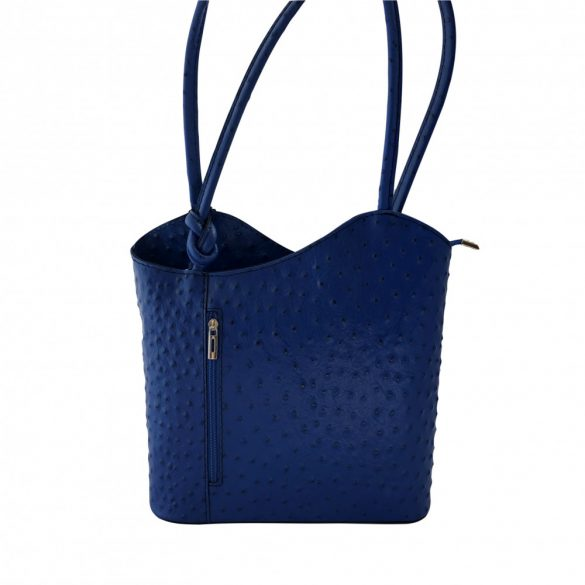 """""""Violet"""" kék strucc mintás Olasz bőr női válltáska"""