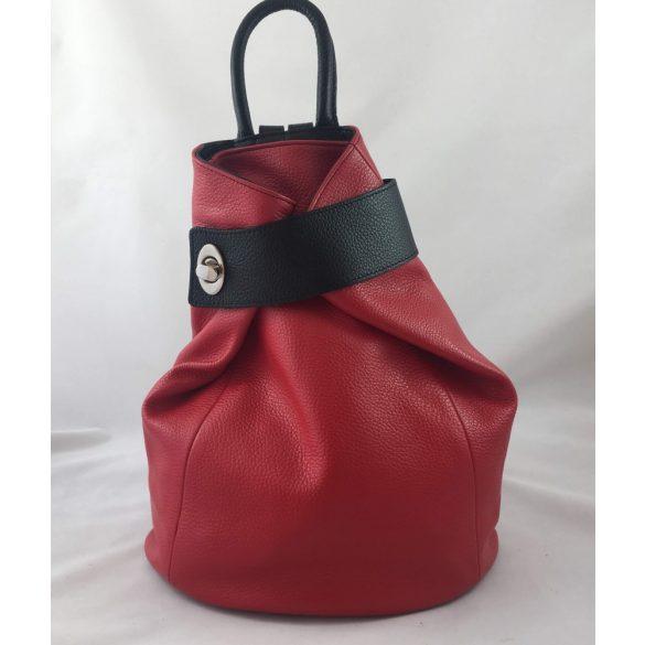 """""""Amailia"""" piros és fekete Olasz bőr női hátitáska"""