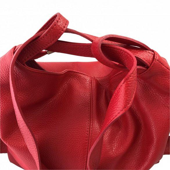 """""""Serena"""" piros Olasz bőr női válltáska"""