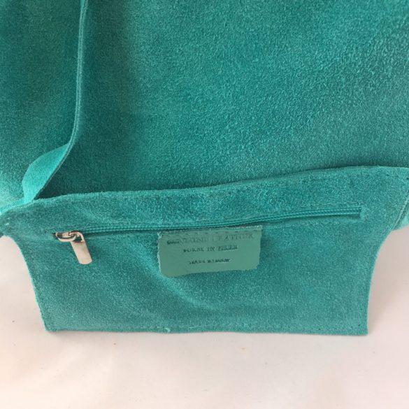"""""""Lioni"""" tűrkíz Olasz velúr bőr női shopper táska"""