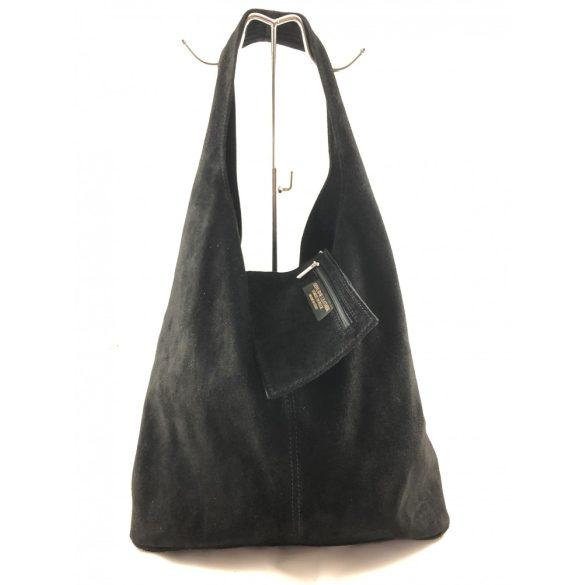 """""""Leora"""" fekete Olasz bőr női shopper táska"""