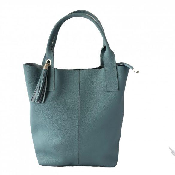 """""""Penelop"""" farmerkék Olasz bőr női shopper táska"""