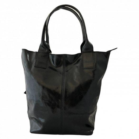 """""""Penelop"""" fekete Olasz bőr női shopper táska"""