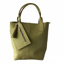 """""""Penelop"""" világos sárga Olasz bőr női shopper táska"""