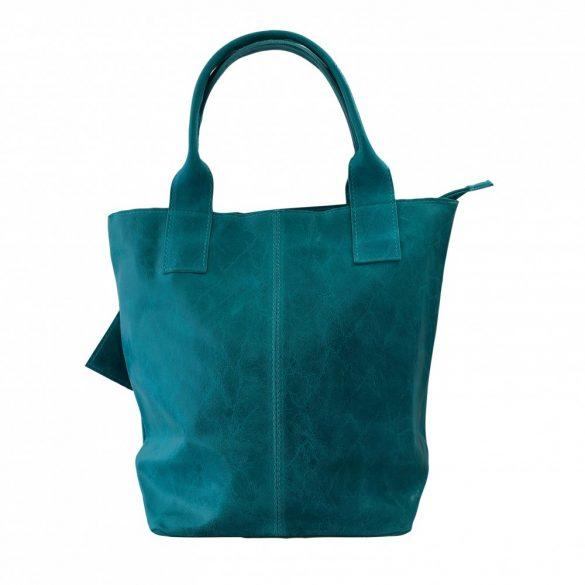 """""""Penelop"""" tűrkíz Olasz bőr női shopper táska"""