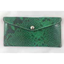 """""""Siena"""" zöld piton mintás Olasz bőr pénztárca"""