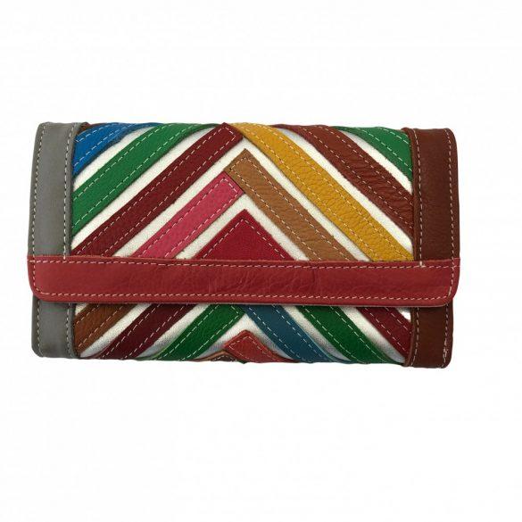 """""""Francesca"""" színes patchwork Olasz bőr női pénztárca"""