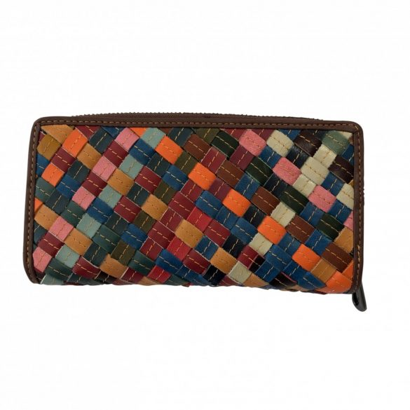 """""""Francesca"""" patchwork fonott Olasz bőr női pénztárca"""