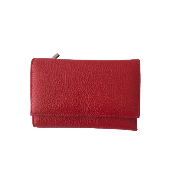 """Lulu"" piros Olasz bőr női pénztárca"