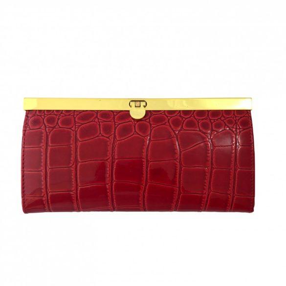 """""""Luxury"""" piros Olasz bőr női pénztárca"""