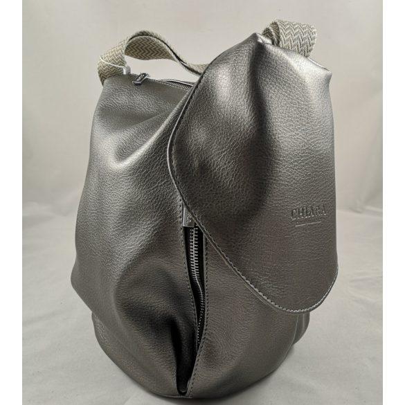 """""""Mistia"""" ezüst Chiara női rostbőr hátitáska"""