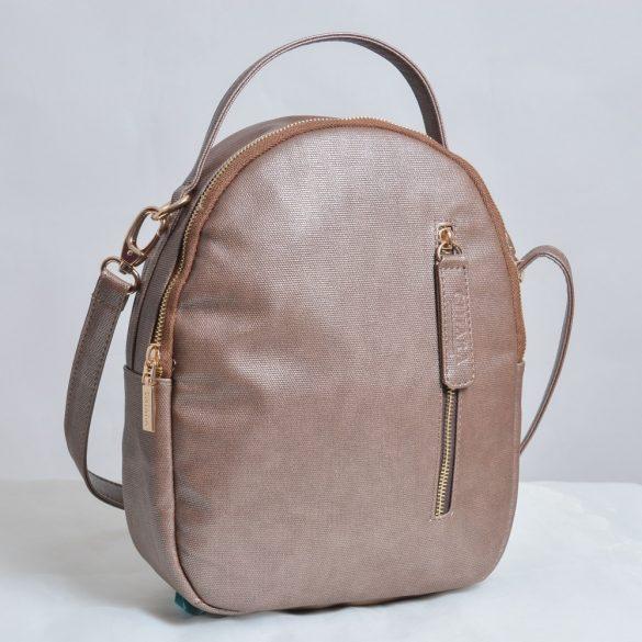 """Nida"" bronz Chiara női vászon hátitáska"