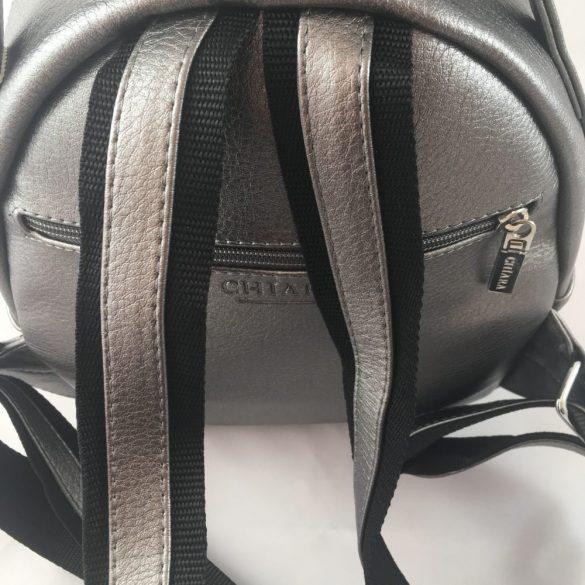 """""""Netta"""" ezüst Chiara női rostbőr hátitáska"""