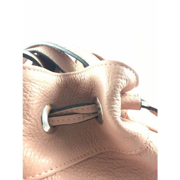 """""""Mita"""" női olasz bőr púder rózsaszín divattáska"""